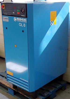 Boge OL8 Olievrij Zuigercompressor 5.5 kW 754 l/min bouwjaar 2003