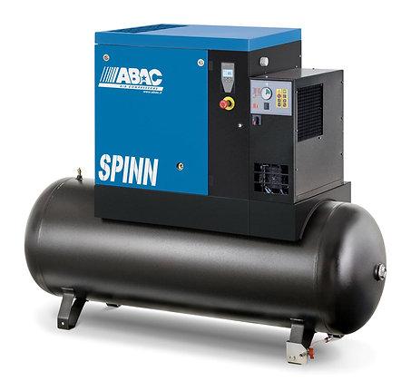 ABAC Spinn.E - 11 kW - Schroefcompressor op tank +  aangebouwde koeldroger