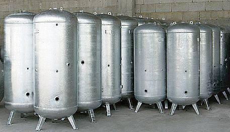 Gegalvaniseerde 900 liter persluchtketel *Z.G.A.N.* 900 liter
