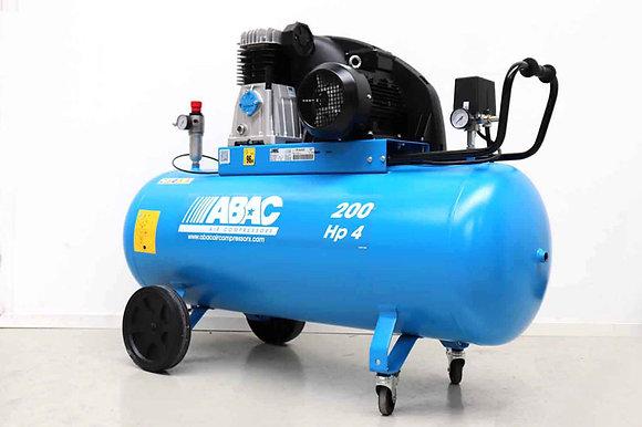 ABAC A39B-200CT4 - 3kW - Zuigercompressor op tank - 200 Liter