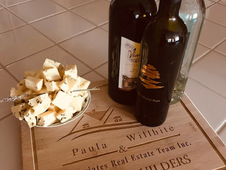 Lavender and white fudge and wine a perfect pairing