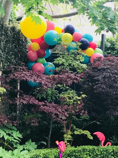 Garden Party Personalized Balloon Instal