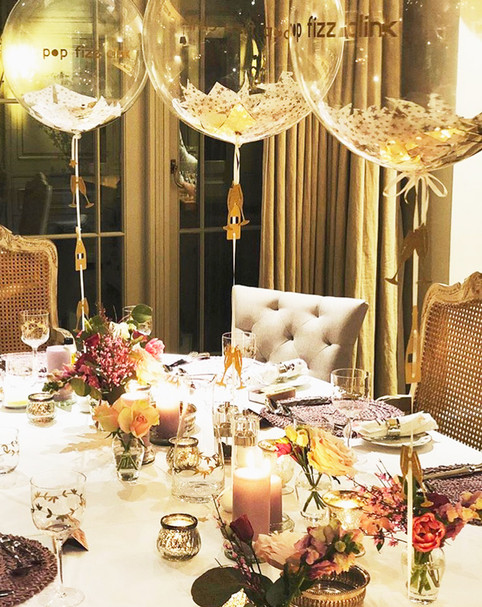 Special Dinner Party Clear Balloons