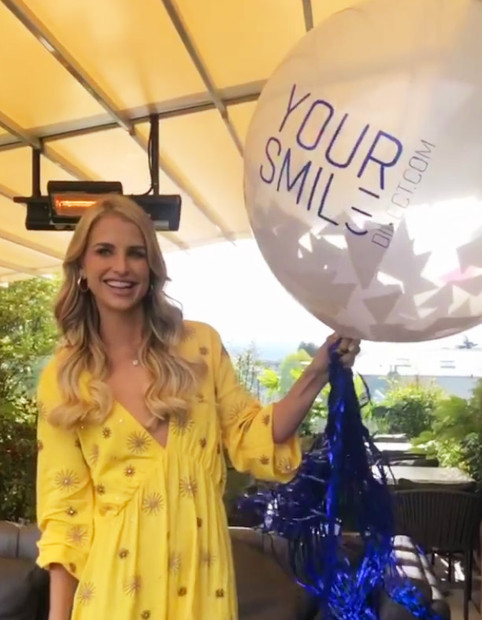 Confetti Balloon @ Your Smile Direct event with Vogue Williams