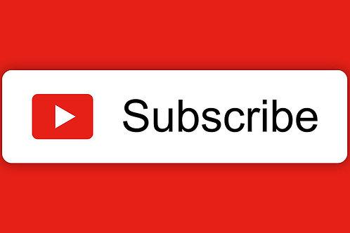 Inscritos no canal do Youtube a partir de R$399