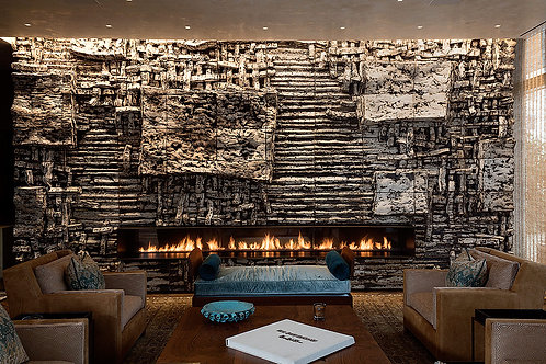 Peter Lane, Brenda Harrop, LA Art Advisory, Ceramic, LA Art Consultant, Luxury Design, Commissioned, Fireplace