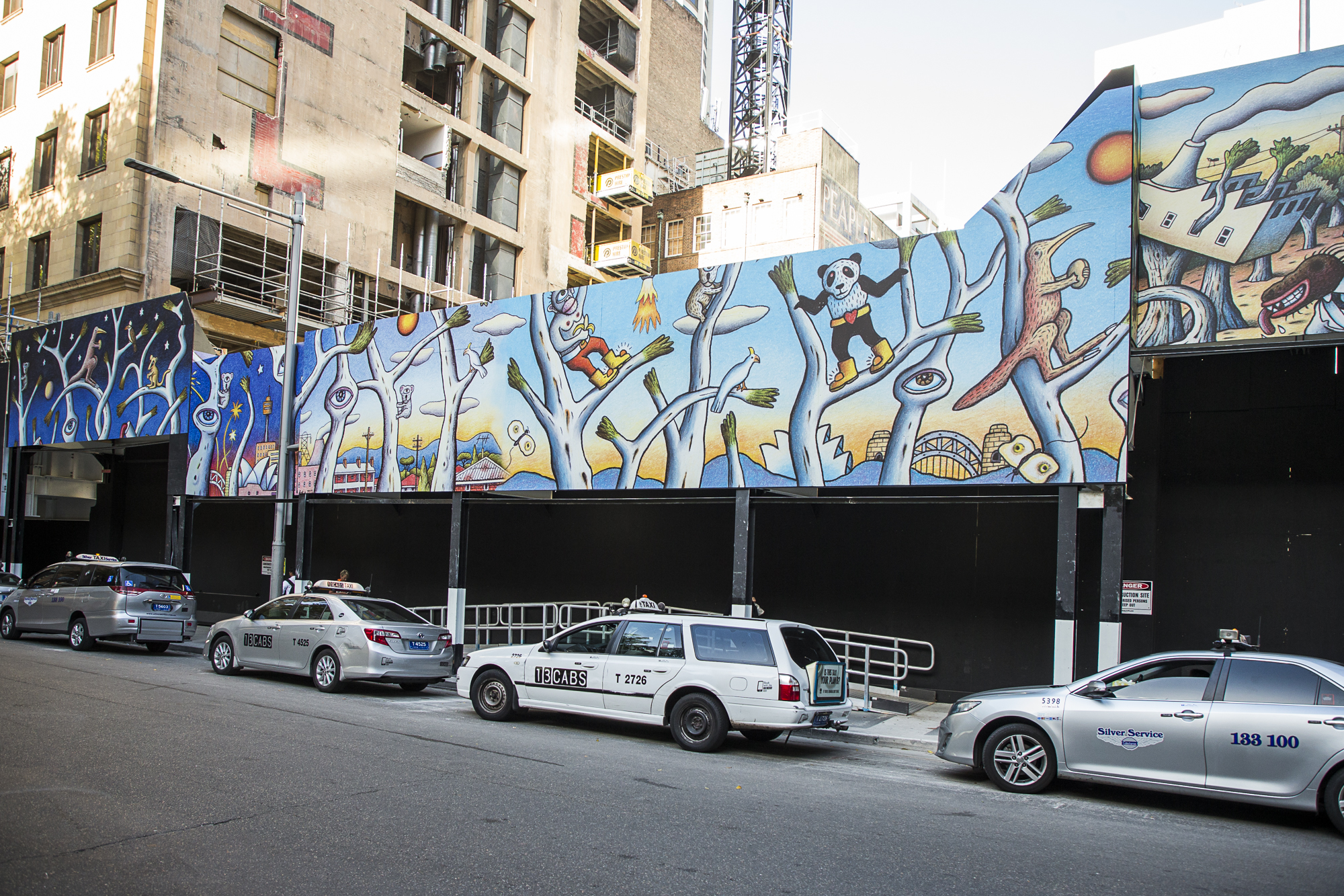 Graphics applied to Carrington Street Hoarding