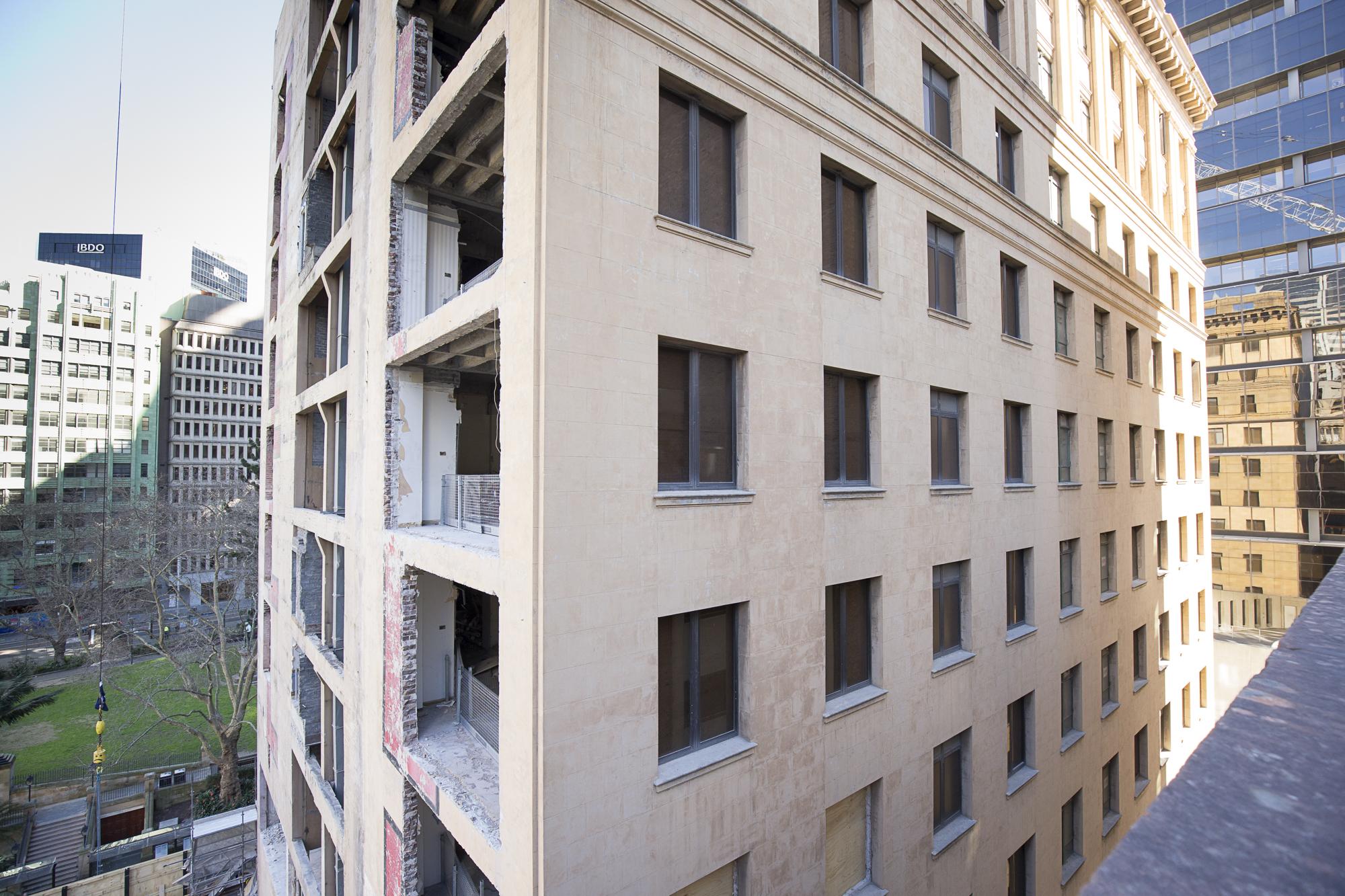 13 Tower - Shell House Internal brickwork removed