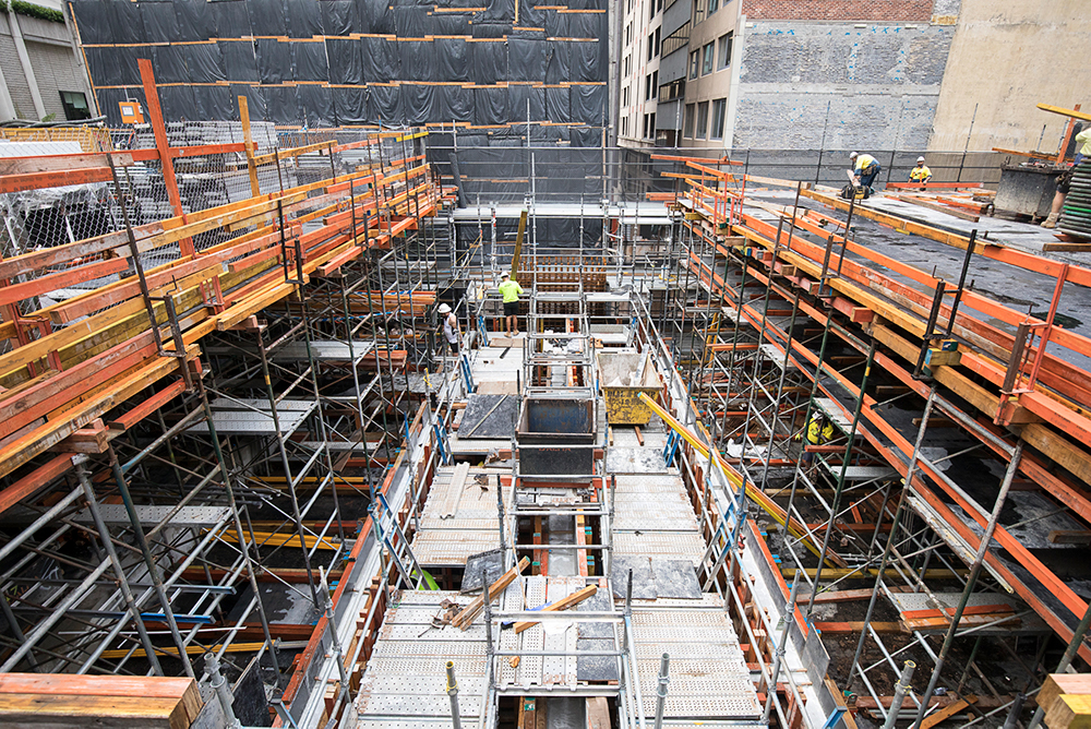 1 - Lift pit construction Transit Hall