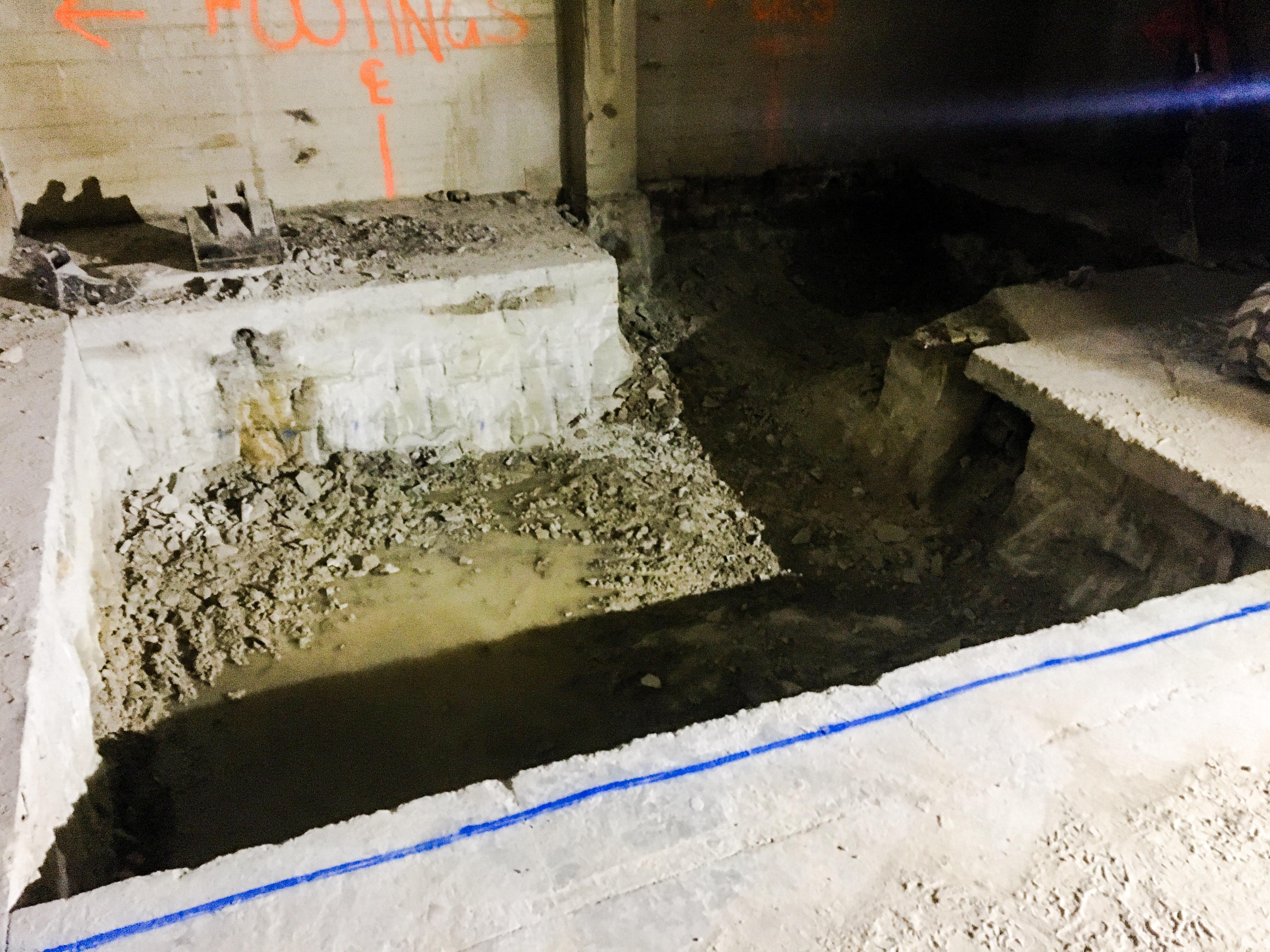 Tower Menzies TC3 Crane Base Excavation