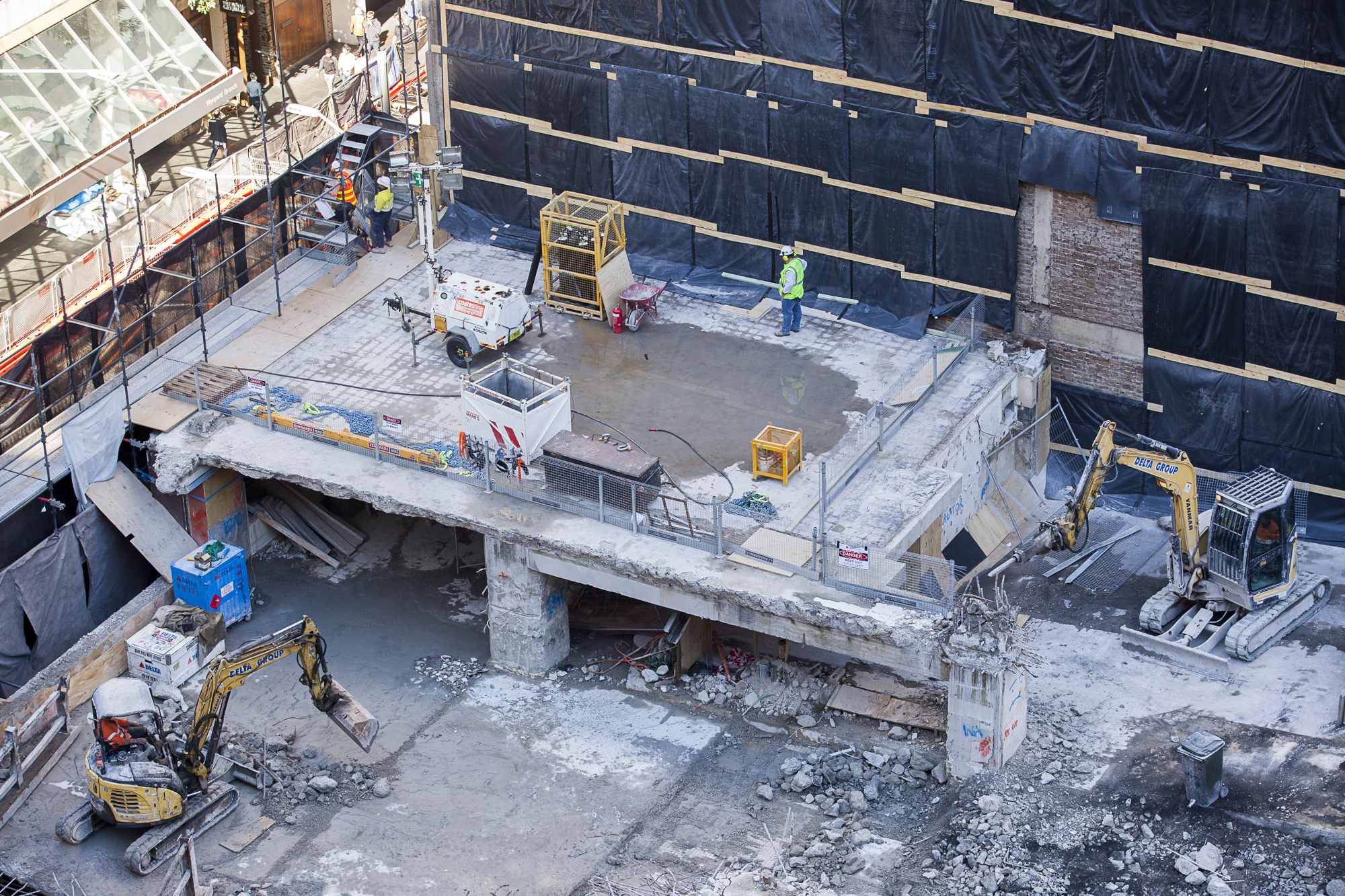 6 Tower - early Protection slab over southern walkway