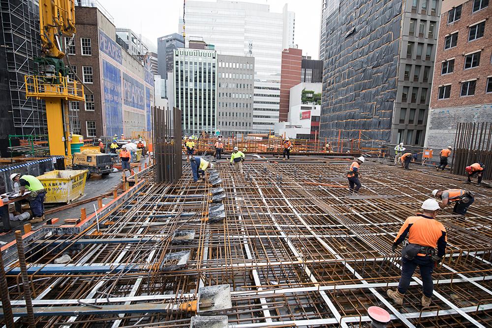 2 - Construction of Pour 3 Mezzanine