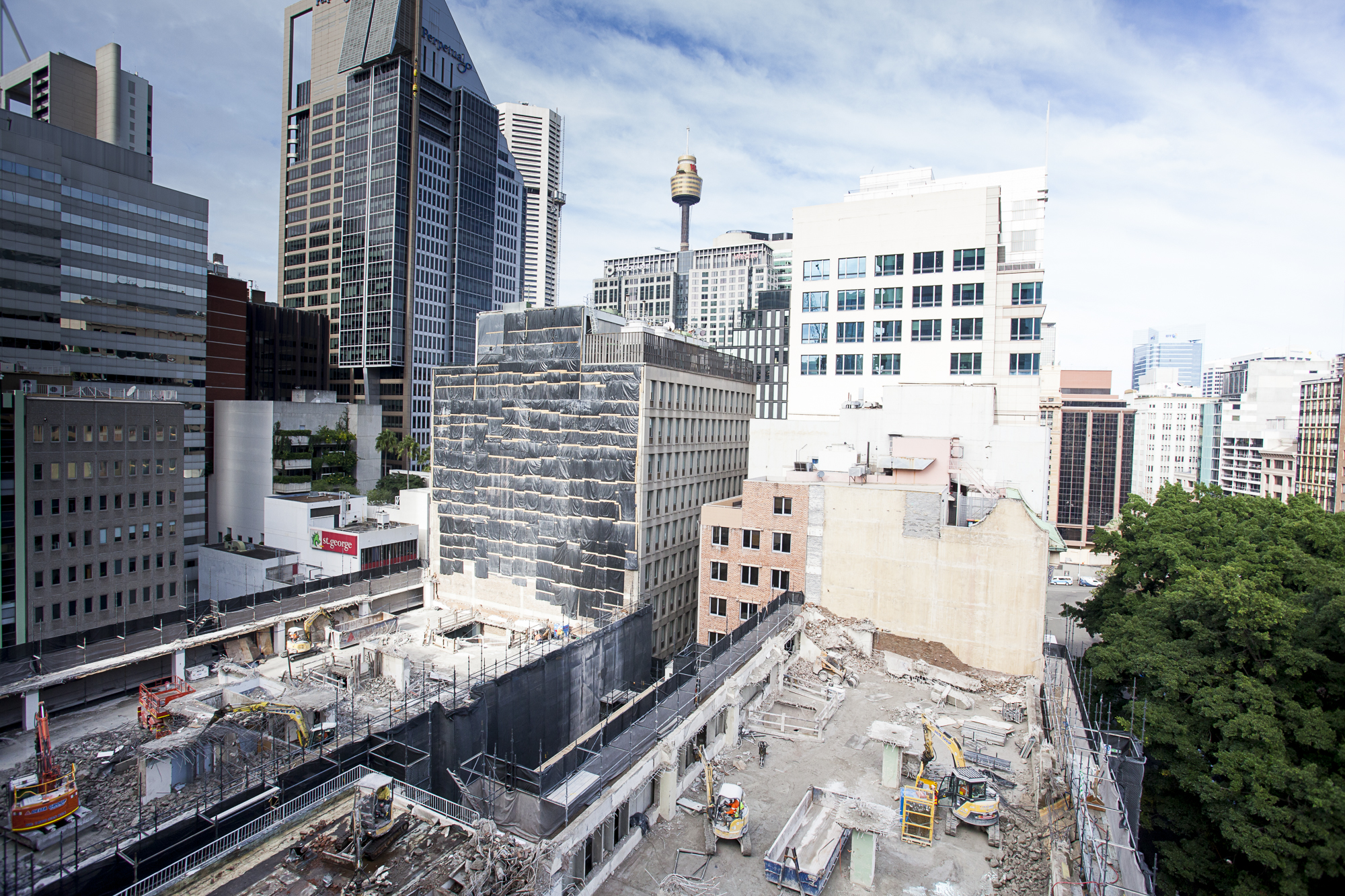 4 Both Tower Demolition Progess