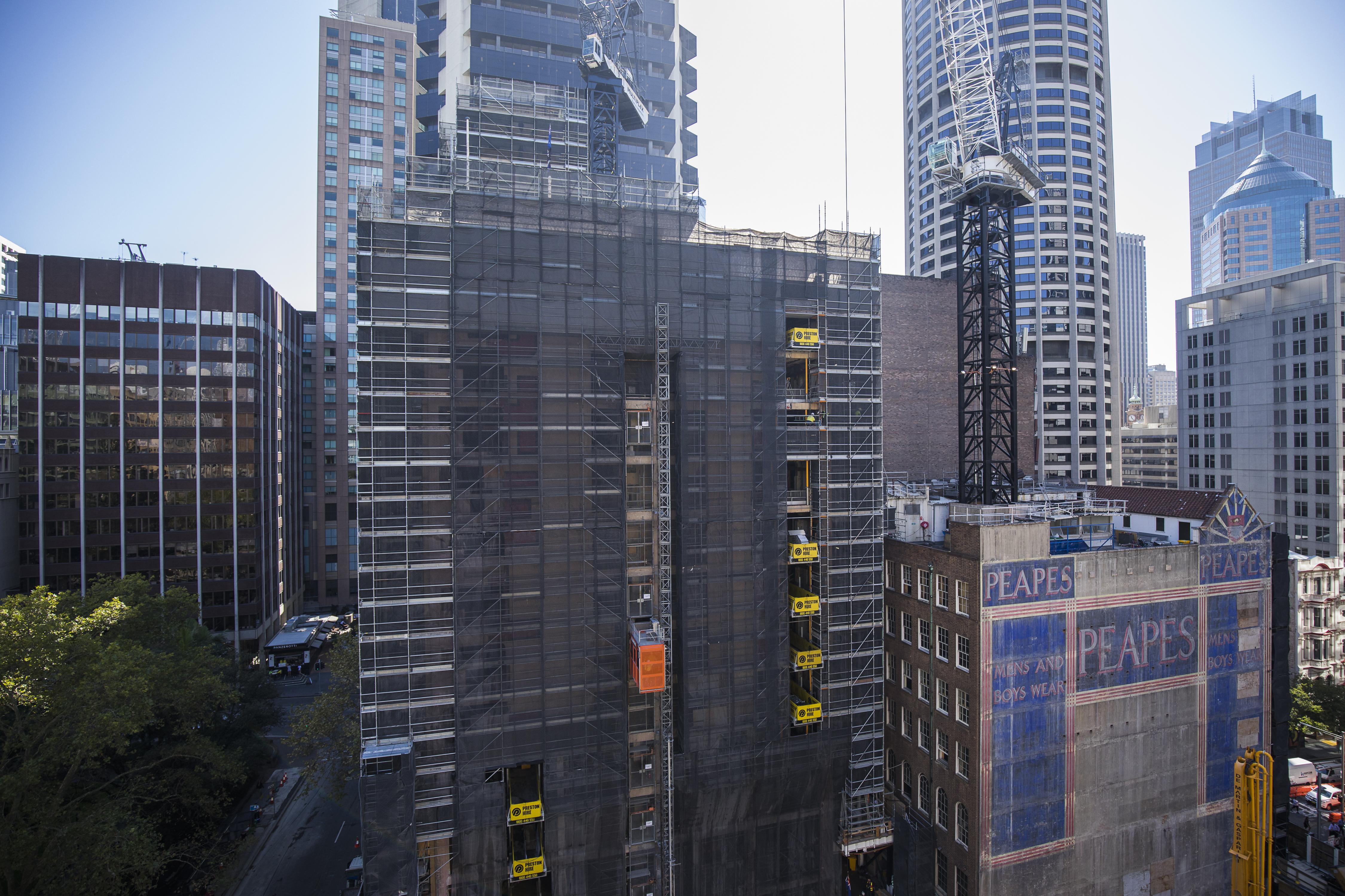 Shell House scaffold
