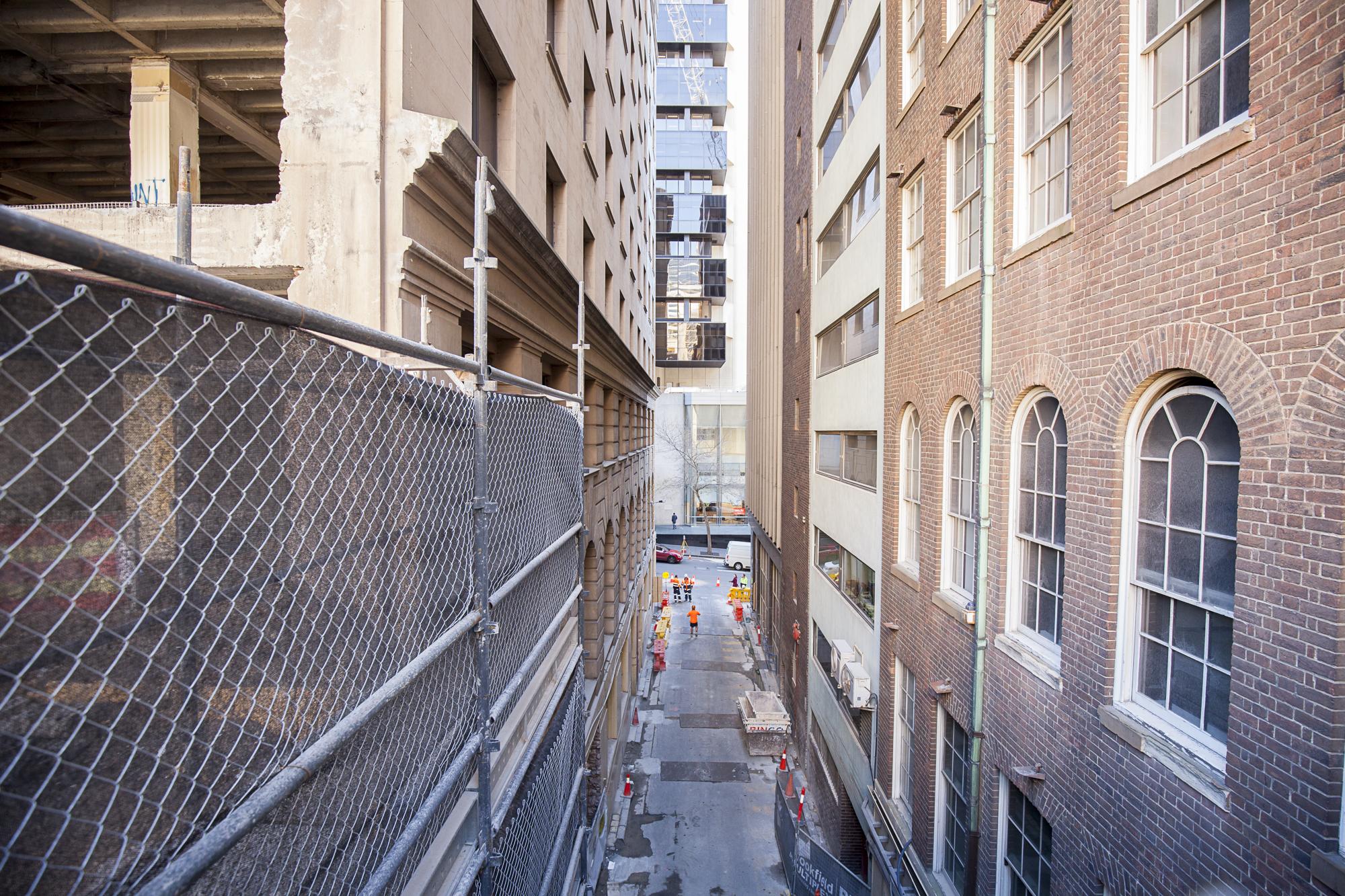 3 Tower - Wynyard lane completion of inground footings a