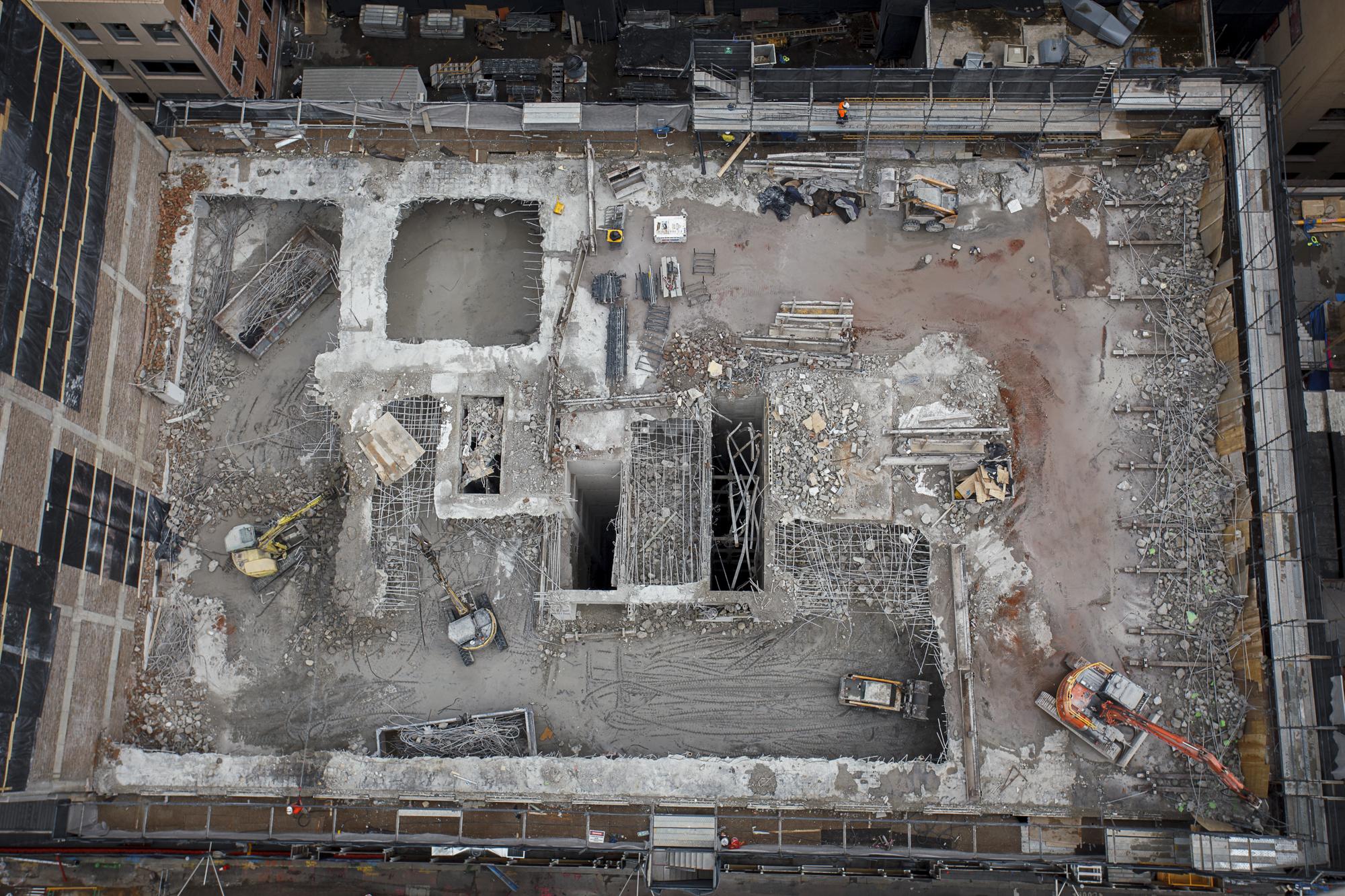 Tower 301 George St - Demolition aeiral