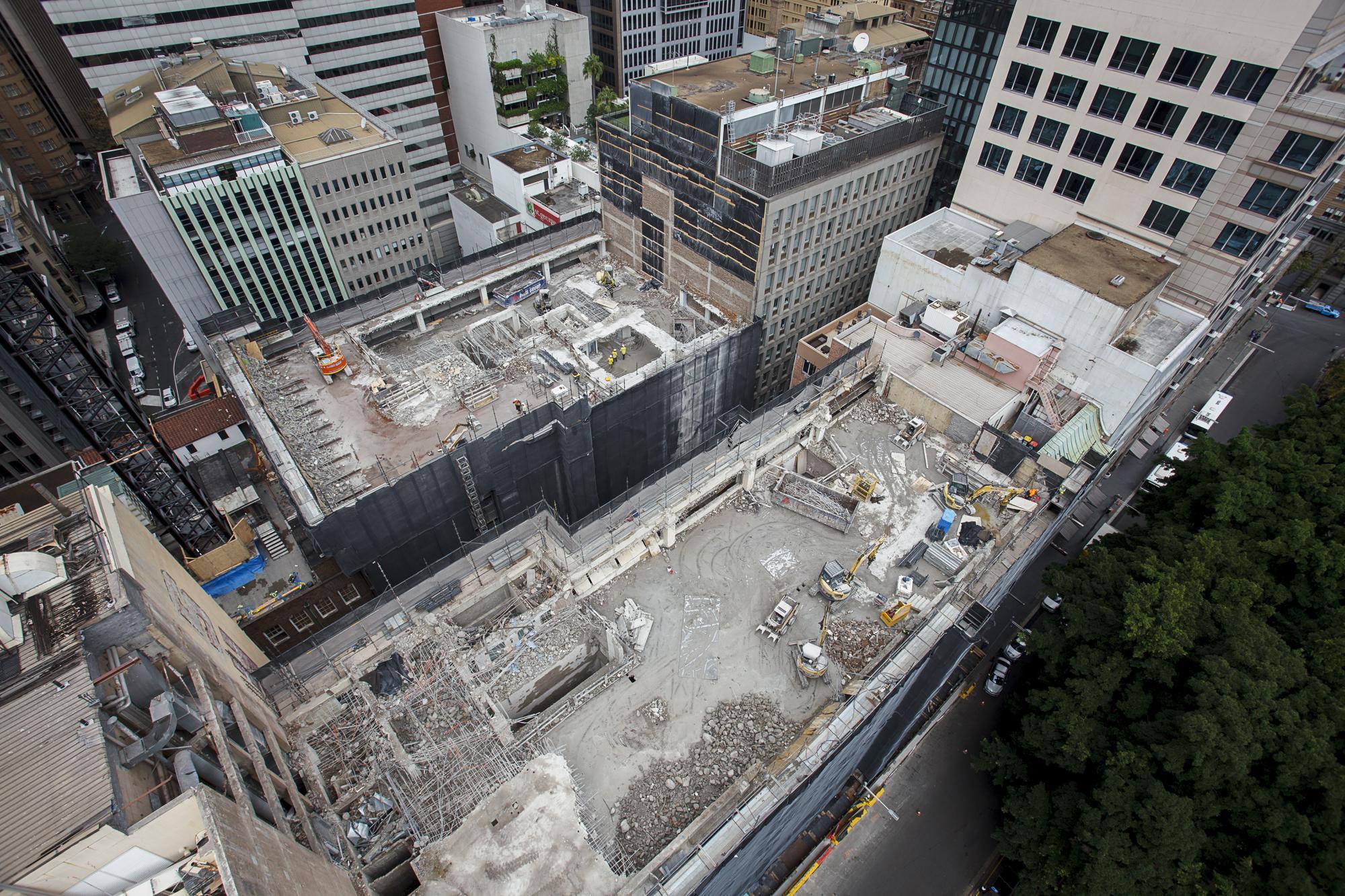 Both Demolition Progress Arieal