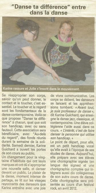 """JUSTINE ENTRE DANS LA DANSE AVEC """"DANSE TA DIFFÉRENCE"""""""