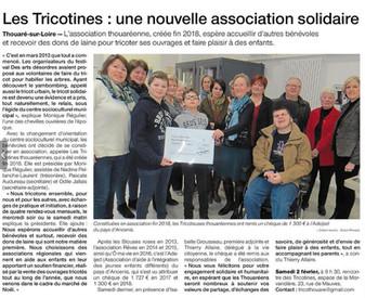 REVUE DE PRESSE - Ouest-France - Les Tricotines de Thouaré-sur-Loire