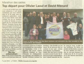 REVUE DE PRESSE - L'ECHO D'ANCENIS - Top départ pour Olivier Laoul et David Ménards