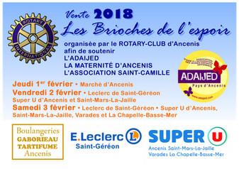 """AGENDA - Opération """"Brioches de l'espoir"""" avec le Rotary-Club d'Ancenis"""