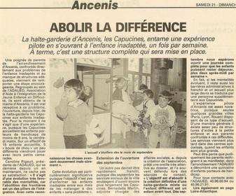 REVUE DE PRESSE - Ouest-France - Abolir la différence