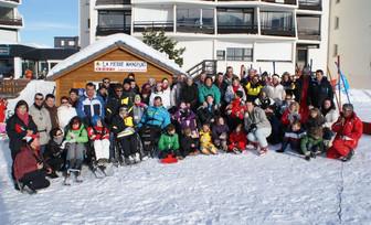 SEMAINE HANDISKI POUR 12 FAMILLES DE L'ADAIJED du 18 au 25 février 2012