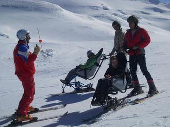 Nouvelle aventure pour neuf familles de l'ADAIJED à La Pierre Saint-Martin dans Les Pyrénées avec LA