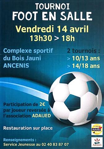 AGENDA - Tournoi de foot en salle