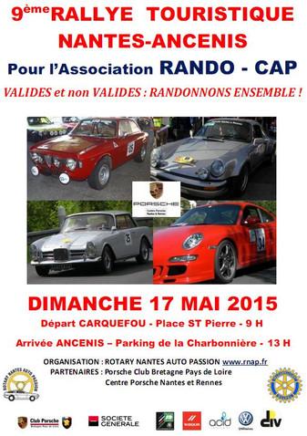 9ème Rallye touristique Nantes-Ancenis pour l'association RANDO-CAP