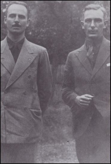 Chesterton (R) with Oswald Mosley
