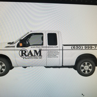 Ram Construction Lettering- Sticker Dude