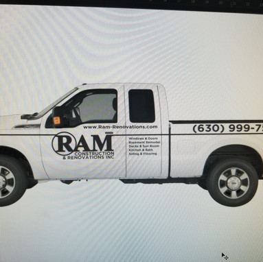 Ram Construction Lettering- Sticker Dude