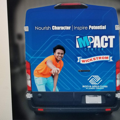 Impact Center, Logo and Wrap Design - Sticker Dude