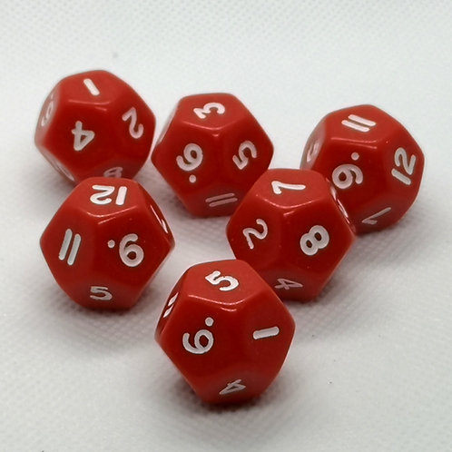 12-Sided Dice (Red)