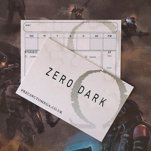 Zero Dark Hero Cards (pack of 5)