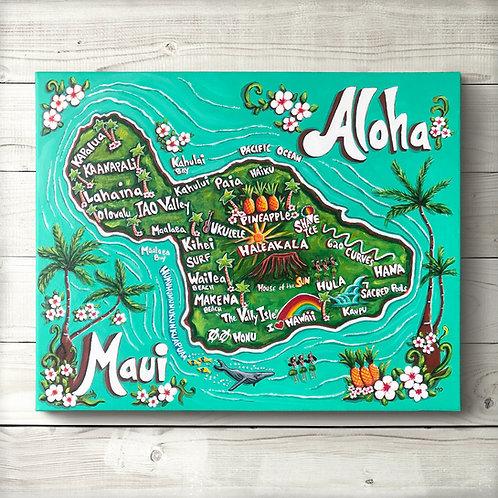 Original Map of Maui