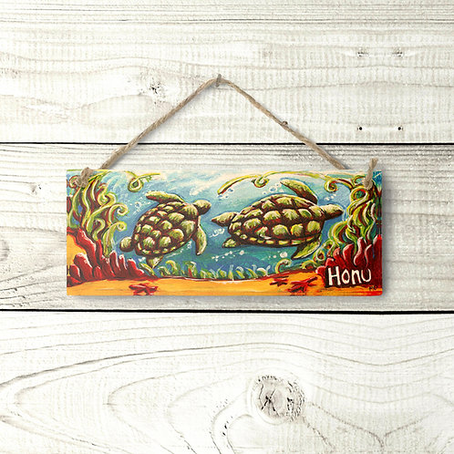 Small Two Honu Sign