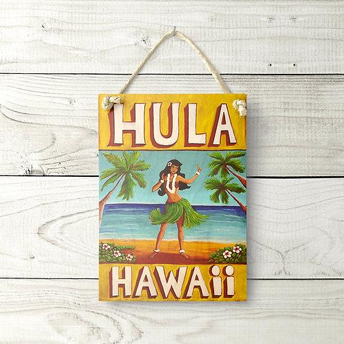 5x7 Hula Hawaii Sign