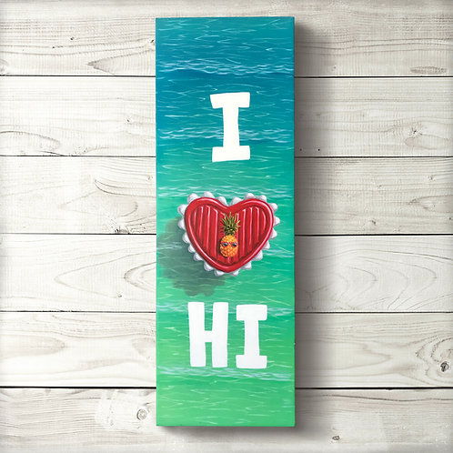 I Heart HI Original Painting