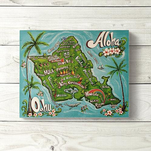 8x10 Oahu Sign