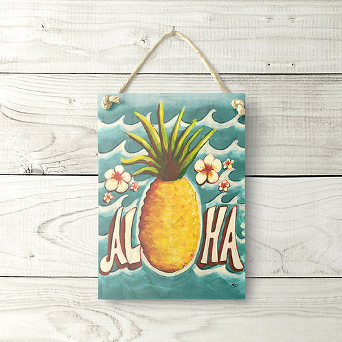 5x7 Aloha Pineapple Sign