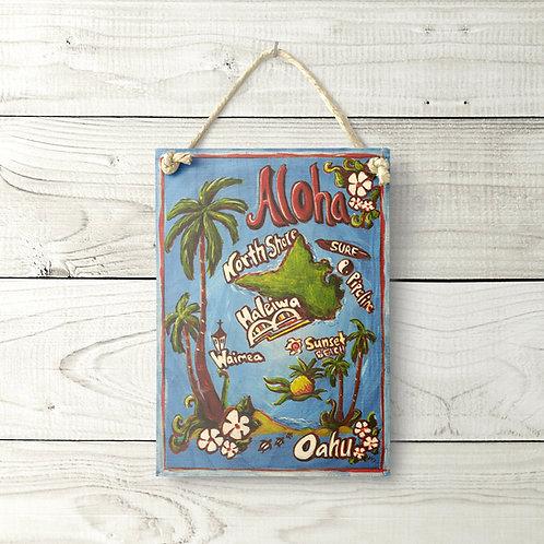 5x7 Aloha Oahu Sign
