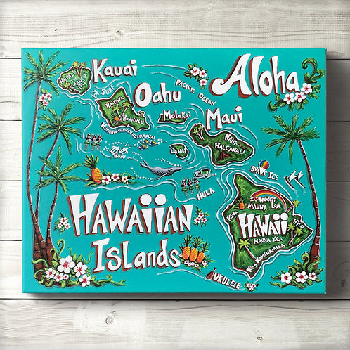 Hawaiian Islands Canvas Print