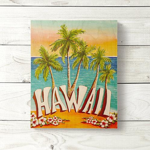 8x10 Hawaii Sign