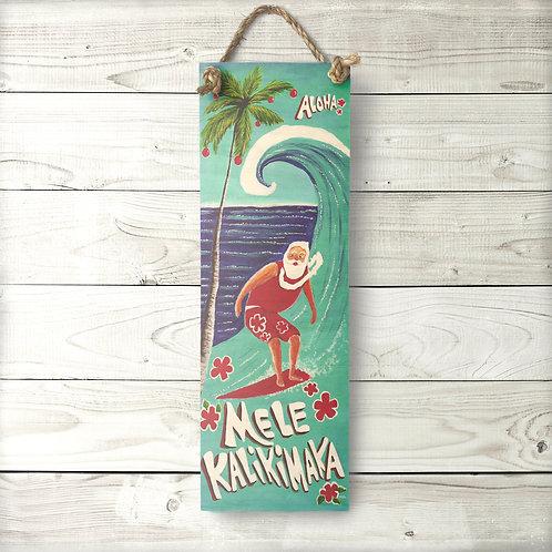 Surfing Santa Large Sign