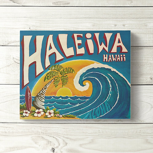 8x10 Haleiwa Sign