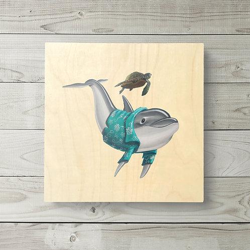 12x12 Hawaiian Dolphin