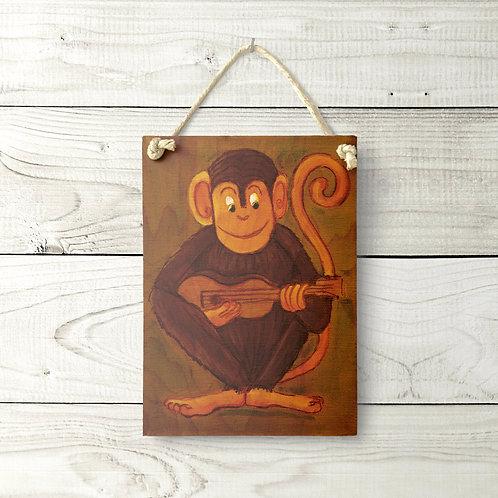 5x7 Ukulele Monkey