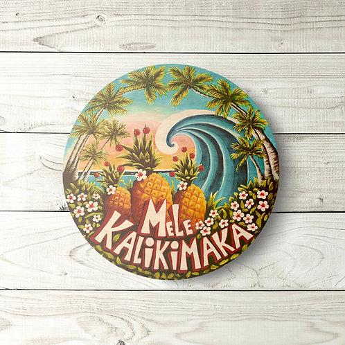 Mele Kalikimaka Circle Sign